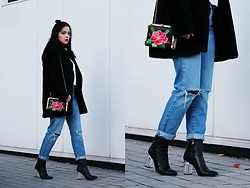Natalia Pawlik - Romwe Outwear, Sheinside Sweater, Forever 21 Jeans, Deezee Shoes, Zaful Bag - Glass