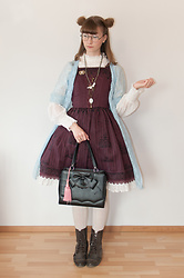 Maiju Laine - Peignoir, Zara Plumetis Top, Innocent World Birdcage Jsk, Loris Bag - Witchy afternoon tea