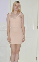 Lucy Mitchell - Sammydress Pale Peach Strap Dress - Simple & Sweet