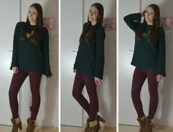 Jimena Palermo - Primark Necklace, Zara Sweater, Tally Weijl Pants, Tally Weijl Shoes - Favourite Autumn Look