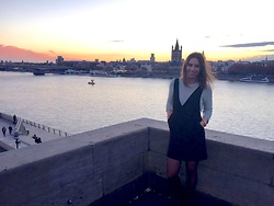 Chantal H. - H&M Dress, Zara Cardigan - Cologne view