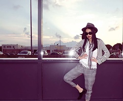 Hanna From HOLLAND - Borsalino Hat, Vero Moda Vest, Pants, Italian Manshoes - MD city chic