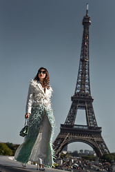 Luana Codreanu - Aspinal Of London Bag, Musette Shoes - Walk in Paris