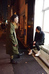 @KiD - Neuw Denim Military Coat, Kill City Crazy Pants, Dr. Martens 10 Hole Boots - Japanese Trashers 2