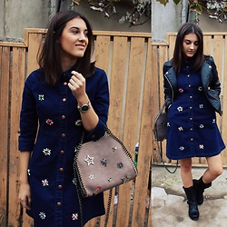Vlada Avornic - Zaful Bag, Vipme Dress, O.Y. Watches Watch - Denim Lover
