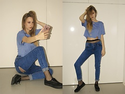 Patrycja Kołosowska - Pull & Bear Jeans, Vans Boots, H&M Fishnet, No Name Crop Top - Shout Out to My Ex - Little Mix
