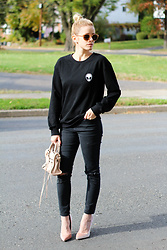 Kim Tuttle - Make Me Chic Alien Sweatshirt, Topshop Jamie, Make Me Chic Velvet Crush, Balenciaga Mini City - Velvet crush