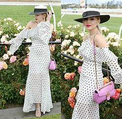 Scarlett Vargas - Gucci Bag, Keepsake The Label Dress - Derby Day
