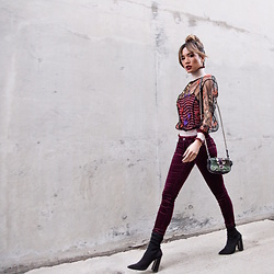 Jessi Malay - Fendi Embroidered Floral Top, Fendi Velvet Pants, Fendi Micro Baguette, Tony Bianco Ditto Booties -  A Night With FENDI | #Fendirumi takes America
