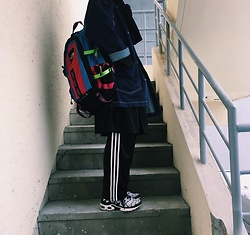 Mushroooooom H - Northface Hotshot, Adidas Fire Bird, Nike Max Plus, Asos Denim Jacket, Thisisneverthat Long Jacket - Cool line