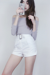 Samantha Mora - Yesstyle Off Shoulder, Coco Sin Shorts - Pale in Comparison