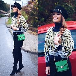 Cristina Gheiceanu - Zaful Hat, Sheinside Sweater, Sheinside Bag, Sheinside Skirt, Asos Shoes - Accessories that make the difference