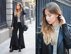 Claudia Villanueva - Zara Jacket, Happiness Boutique Earrings, Pull & Bear T Shirt, Zara Bag, Zara Pants, Public Desire Boots - Rocker & Trendy