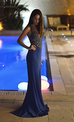 "Roberta De Martino - Blue Long Dress - ""I wore the stars, immersed in the night"""