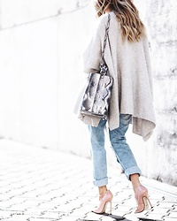 Silvia P. - Sophie Handbags Bag, Zara Cardigan, H&M Jeans, Denis Stilettos - Walk on the sunshine