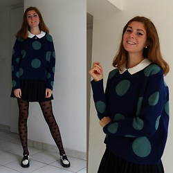 Laurielle Haze - Sammydress Polka Dots Sweater - Funky Preppy (SAMMYDRESS)
