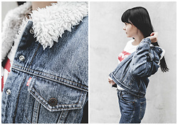 Izabela - Levi's® Trucker Jacket, Levi's® Levis 501, Levi's® Classy T Shirt - HOW TO WEAR DENIM