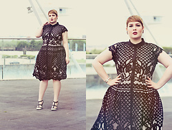 Luciana Blümlein - Studio 8 Dress, Valentino Heels, Dior Earrings, Hermès Bracelet - • Black & White Lace •
