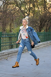 Sinziana Maria Iacob - Pull & Bear Jacket, Pull & Bear Jeans, Papucei Boots - Denim all the way