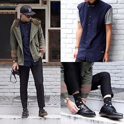 Anan Chien - Huf Cap, Zanerobe Shirt, Timex Watch, Dr.Martens Shoes, Pants, Camera - Anan x revolve