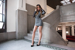 Jessi Malay - Express Mesh Inset Metallic Mini Dress - Holiday Party Looks | Express x MWT