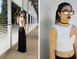Dana Nguyen - Forever 21 Sunglasses, Forever 21 Hoop Earrings, Forever 21 Choker, Boohoo Crop Top, J. Marco Trousers - Put On Your Big Girl Pants