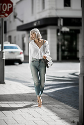 Jiawa Liu -  - White shirt and denim