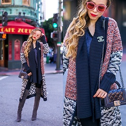 Sasa Zoe - Less Than $100 Cardigan, Sunglasses, Jeans, Brooch, Otk Boots, Bag - DUSTER CARDI