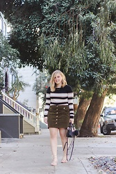 Kelsey O'Brien - Forever 21 Corduroy Skirt, Forever 21 Crop Top, Asos Lace Up Flats - Fall in San Francisco