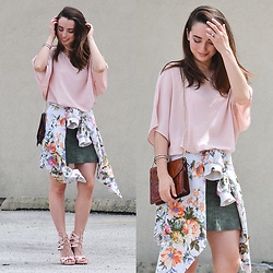 Carissa G. - Asos Top, Limited Too Mini Skirt, Jessport Jacket - Floral Pastel
