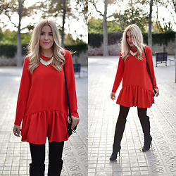 Cris M. - Zara Playsuit - Red Playsuit