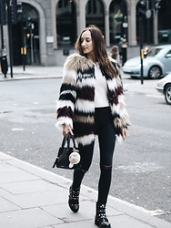 Gabriele Gzimailaite - Ivyrevel Faux Fur, Kurt Geiger Shoes - COLDER SEASONS