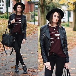 Audrey - Pimkie Sweater, Pimkie Hat, Asos Jeans, Forever 21 Boots - Fall always here