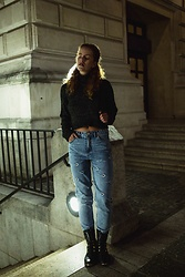 Deliah Alexandra - Pull & Bear Mom Jeans, Zara Sweater, Sacha Boots - EXPOSED