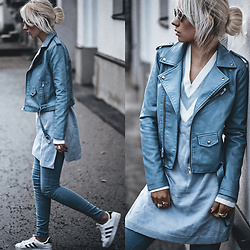 Oksana Orehhova - Metisu Jacket, Metisu Sweater - RUGGED BLUE