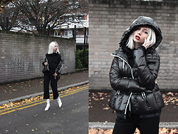 Magdalena M -  - White pvc boots and puffer jacket