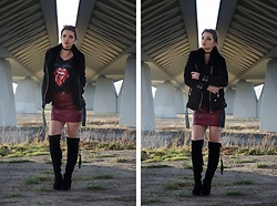 Marcela Wlodarczyk - Stradivarius Jacket, Stradivarius Skirt, Deezee Shoes - Bad habit