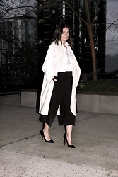 Aurela Lacaj - Christian Louboutin Heels, Zara Coat - Black and White!
