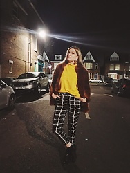 Carla V - Zara Faux Fur, Sammydress Jumper, Topshop Trousers, Bata Brogues - I never liked yellow