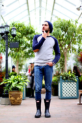 Hector Diaz - Carolina Herrera Sweater (Similar), Abercrombie & Fitch Jeans, Springfield Beanie, Hunter Rain Boots, Michael Kors Watch - Going back to the start