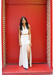 Angelina D'Souza - Forever 21 Collared Crop Top, Asos Slit Skirt, H&M Chelsea Boots - Contrast