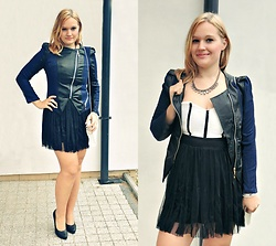 Kasia Koniakowska - Dresstination.Pl Dress, Jacket, Happiness Boutique Necklace - Dress and jacket