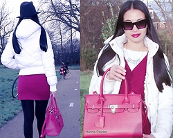 Hanna From HOLLAND - Coolcat Jacket, My New Instagram, Sunglasses, Red Bag - Red bag & bike look ))