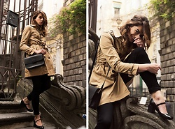 Enrica Scielzo - H&M Trench Coat, Vagabond Squared Bag, Only Black Skinny Jeans, Stiù Mary Jane Leather Shoes, Paul Smith Cashmere Sweater - THE MODERN AUDREY