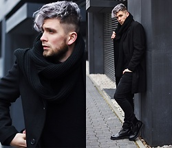 Lukasz Podlinski - C&A Coat, C&A Boots, C&A Pants - Black friday