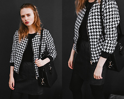 Kristina Magdalina - Poppy Lovers Jacket - Plaid bomber jacket