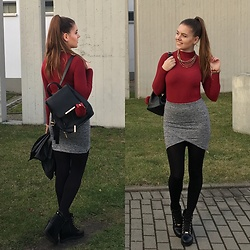Lissey ♥ - Gamiss Knitwear, Zaful Backpack, Gabriella Tights, Terranova Skirt - Classy autumn / Gamiss knitwear