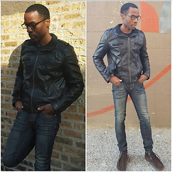 Thomas G - Xhilaration Faux Leather, Forever 21 Premium Denim, Skechers On The Go - Feeling Edgy