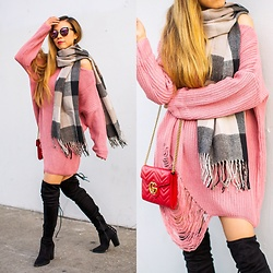 Sasa Zoe - Only $20 Sweater, Only $15 Scarf, Only $20 Sunglasses, Bag, Less Than $100 Otk Boots - ON A BUDGET