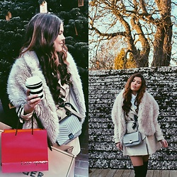 Georgina Walker - Zara Faux Fur Shawl, Topshop Shoulder Bag, Zara Trench Coat - All wrapped up
